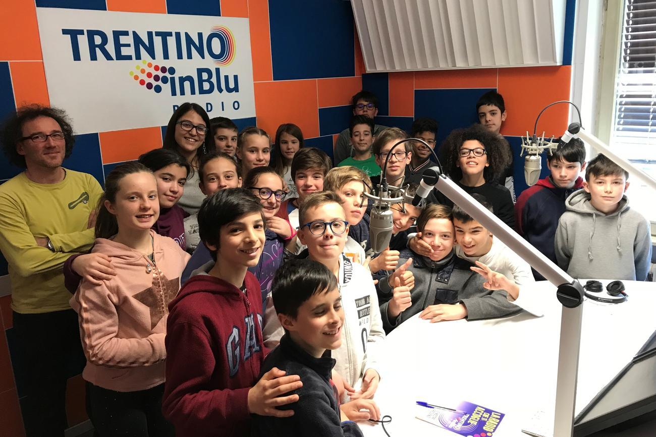 La classe I D della scuola media Arcivescovile di Trento
