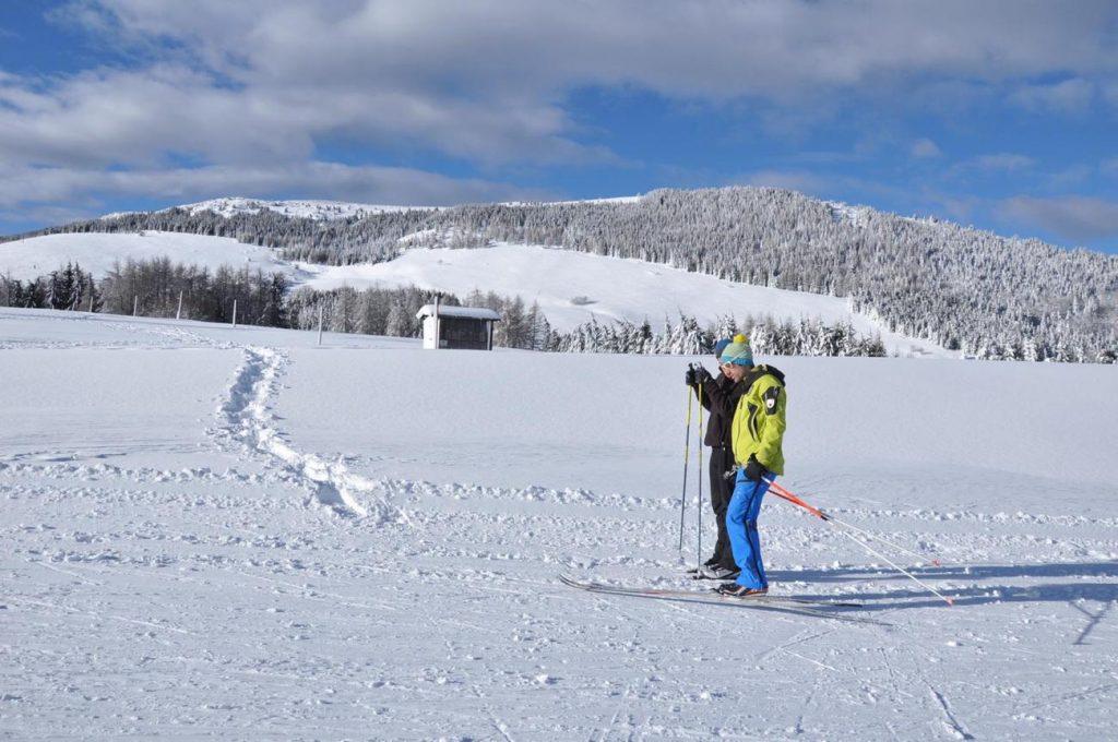Il maestro di sci di fondo Nicola Fruner in Viote