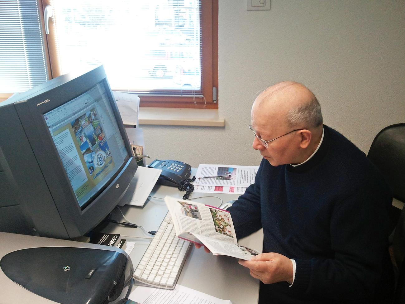 Don Luigi Trottner, per anni responsabile della rivista Campana della Pieve