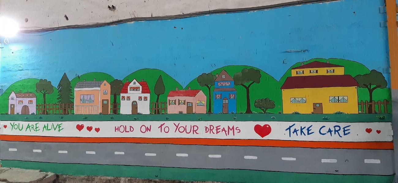 Murales nel campo profughi di Bira