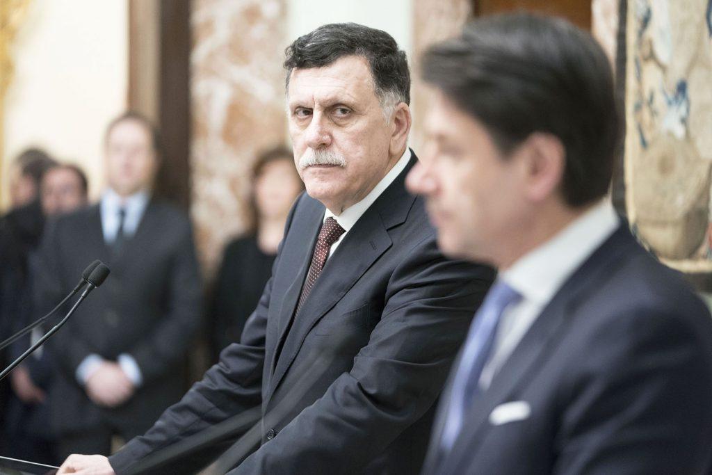 Il presidente Conte e il presidente al Serraj