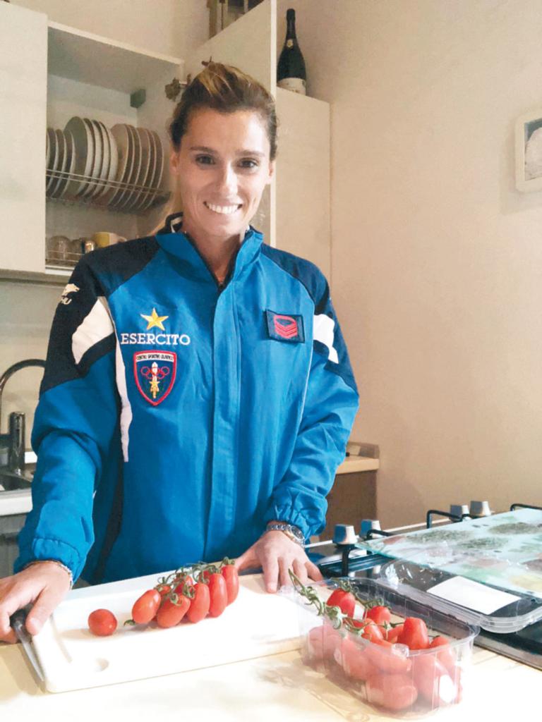 Francesca Dallapè ai fornelli