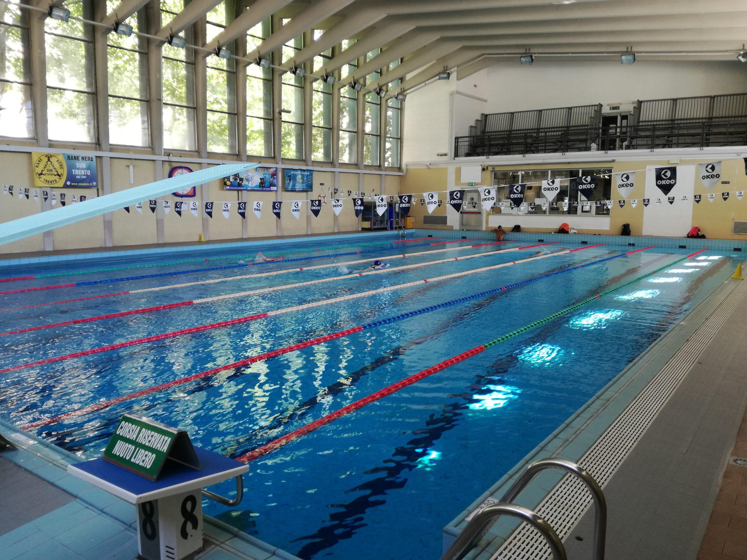 La piscina interna del Centro sportivo Manazzon