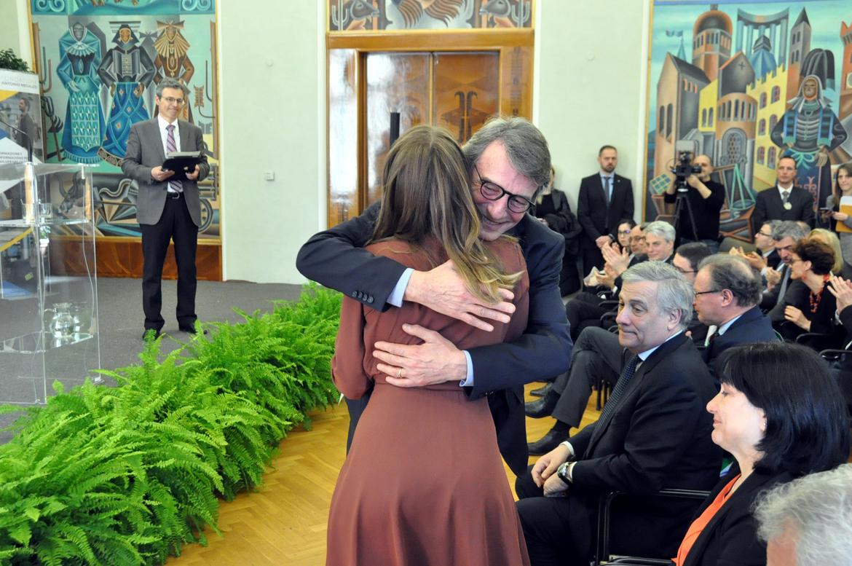 Presentazione della Fondazione Megalizzi con il presidente Sassoli