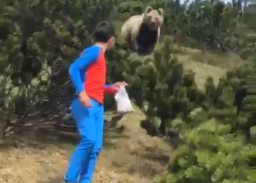 ragazzo orso video