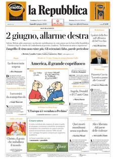La copertina di La Repubblica