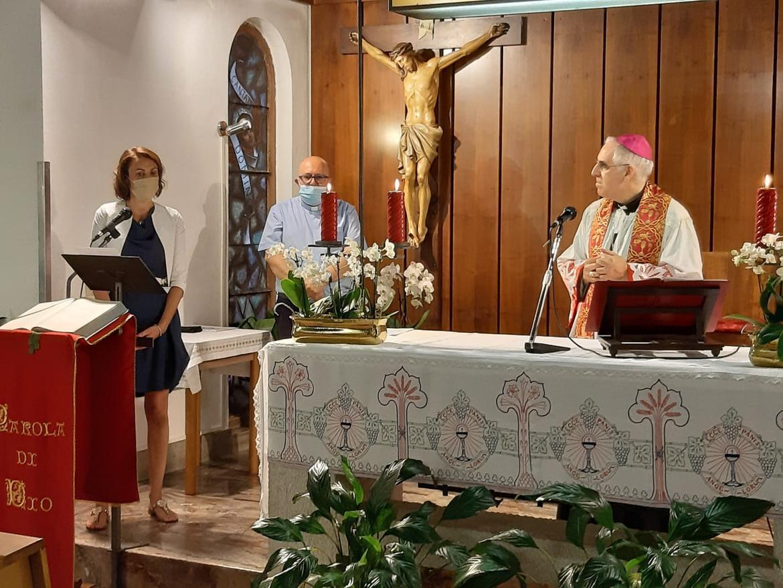 L'arcivescovo Lauro Tisi in visita a Borgo Valsugana